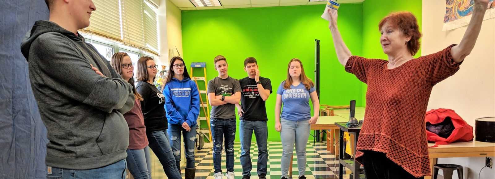 Grant brings professional actress to high school for student workshops
