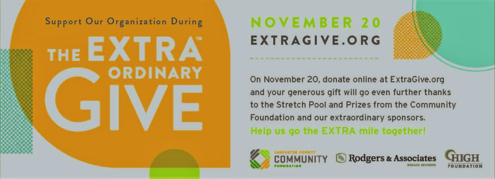 Our wonderful community contributes $30,000 during Extra Give!